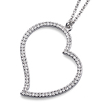 Náhrdelník s krystaly Swarovski Oliver Weber Heart Large