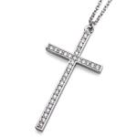 Náhrdelník s krystaly Swarovski Oliver Weber Cross Large