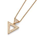 Přívěsek s krystaly Swarovski Oliver Weber Tri Gold