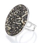 Prsten s krystaly Swarovski Rock 11700553MLGLD