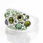 Prsten s krystaly Swarovski Plastic Peridot