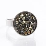 Prsten s krystaly Swarovski Rock 11703553MLGLD