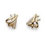 Naušnice s krystaly Swarovski Oliver Weber Lace Gold