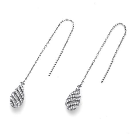 Naušnice s krystaly Swarovski Oliver Weber Comfy Silver