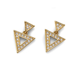 Naušnice s krystaly Swarovski Oliver Weber Tri Gold