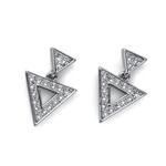 Naušnice s krystaly Swarovski Oliver Weber Tri Silver
