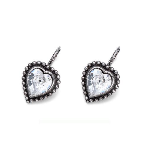 Náušnice s krystaly Swarovski Oliver Weber Antique Heart 22637-001