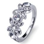 Prsten s krystaly Swarovski Oliver Weber Fleur 41079R