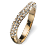 Prsten s krystaly Swarovski Oliver Weber Brill 2477G