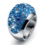 Prsten s krystaly Swarovski Oliver Weber Couleur 2480-BLU