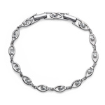 Náramek s krystaly Swarovski Oliver Weber Sparkle Silver