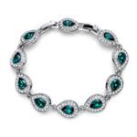 Náramek s krystaly Swarovski Oliver Weber Power Emerald