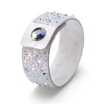 Náramek s krystaly Swarovski Oliver Weber Disco 32189-WHI
