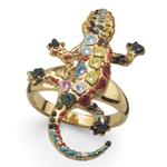 Prsten s krystaly Swarovski Oliver Weber Gaudí Drac Gold