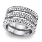 Prsten s krystaly Swarovski Oliver Weber Index