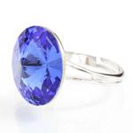 Prsten s krystaly Swarovski Rivoli 47112218SAPH