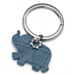 Pøívìsek na klíèe s krystaly Swarovski Oliver Weber Elephant Blue