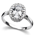 Prsten s krystaly Swarovski Oliver Weber Pure Crystal