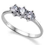 Prsten s krystaly Swarovski Oliver Weber Simple Three