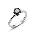 Prsten s krystaly Swarovski Oliver Weber Brilliance Large Black