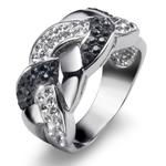 Prsten s krystaly Swarovski Oliver Weber Braid