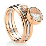 Ocelový prsten Storm Mimi Rose Gold