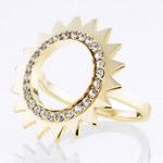 Ocelový prsten Storm Beam Gold