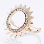 Ocelový prsten Storm Beam Rose Gold