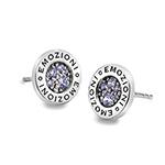 Stříbrné náušnice Hot Diamonds Emozioni Scintilla Lavender Calmess