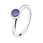 Stříbrný prsten Hot Diamonds Emozioni Scintilla Violet Spirituality