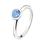 Støíbrný prsten Hot Diamonds Emozioni Scintilla Blue Peace