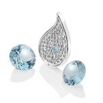 Pøívìsek Hot Diamonds Anais element voda modrý Topaz AC102