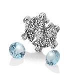 Pøívìsek Hot Diamonds Anais element vloèka modrý Topaz AC108