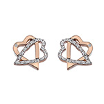 Støíbrné náušnice Hot Diamonds Adorable Rose Gold DE551