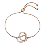 Støíbrný náramek Hot Diamonds Adorable Encased Rose Gold DL575