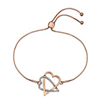 Stříbrný náramek Hot Diamonds Adorable Rose Gold DL577