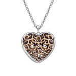 Přívěsek Hot Diamonds Large Heart Filigree Locket RG DP670