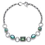 Náhrdelník s krystaly Swarovski Oliver Weber Royal green 11800-GRE
