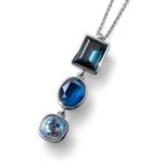 Pøívìsek s krystaly Swarovski Oliver Weber Royal large blue 11801