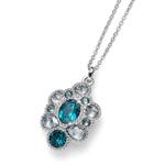 Pøívìsek s krystaly Swarovski Oliver Weber Keen turquoise 11814R