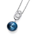 Pøívìsek s krystaly Swarovski Oliver Weber Rivoli denim blue 11820-266