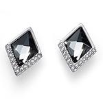 Støíbrné náušnice s krystaly Swarovski Oliver Weber 22663