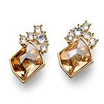 Náušnice s krystaly Swarovski Oliver Weber 22665-GOS