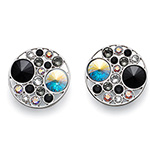 Støíbrné náušnice s krystaly Swarovski Oliver Weber 22672-215