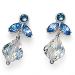 Støíbrné náušnice s krystaly Swarovski Oliver Weber 22681