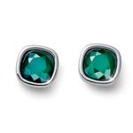 Náušnice s krystaly Swarovski Oliver Weber Royal simple green 22692