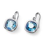 Náušnice s krystaly Swarovski Oliver Weber Royal sapphire shimmer 22693-BLU
