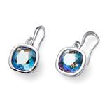 Náušnice s krystaly Swarovski Oliver Weber Royal erinite shimmer 22693-GRE