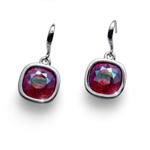 Náušnice s krystaly Swarovski Oliver Weber Royal siam shimmer 22693-RED