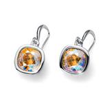 Náušnice s krystaly Swarovski Oliver Weber Royal topaz shimmer 22693-YEL